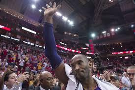 kobe waving goodbye